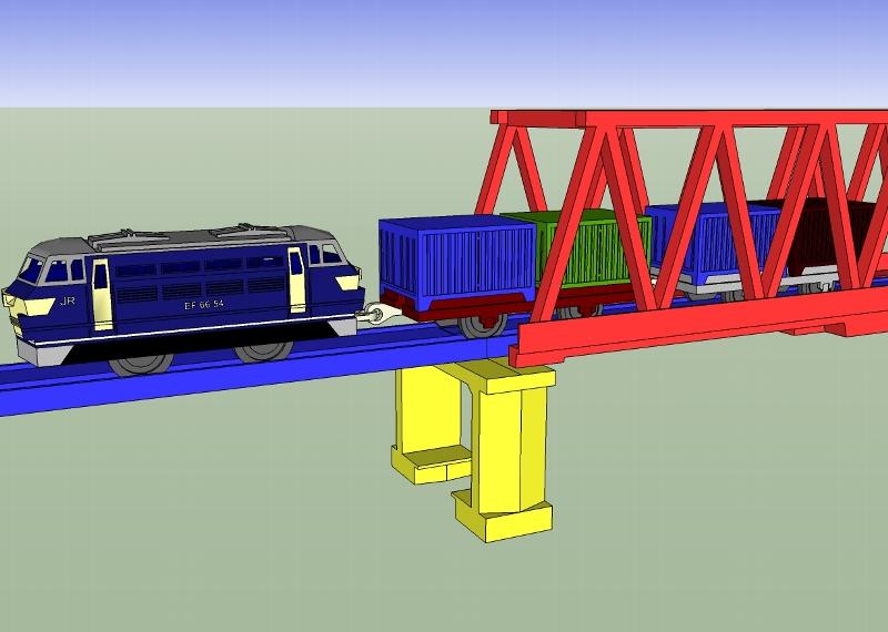 貨車  SketchUpでプラレール 50c5c1da5145